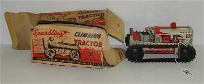 585: VINTAGE MARX CLIMBING TRACTOR