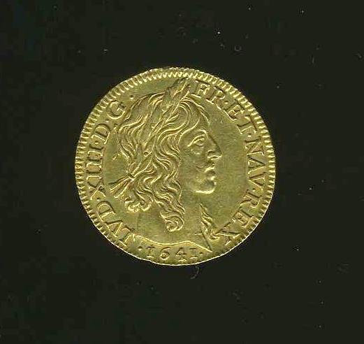 1009: FRANCE. LOUIS XIII GOLD COIN.