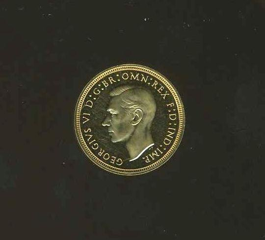 1020: GREAT BRITAIN. GEORGE VI. GOLD  COIN.