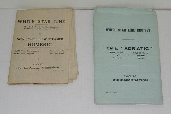 2011: WHITE STAR LINE DECK PLANS ADRIATIC & HOMERIC