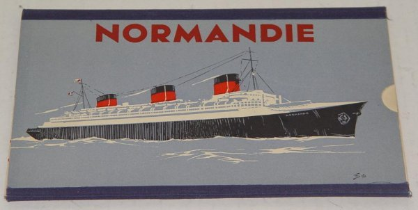 2012: FRENCH LINE NORMANDIE 1st CLASS DECK PLAN