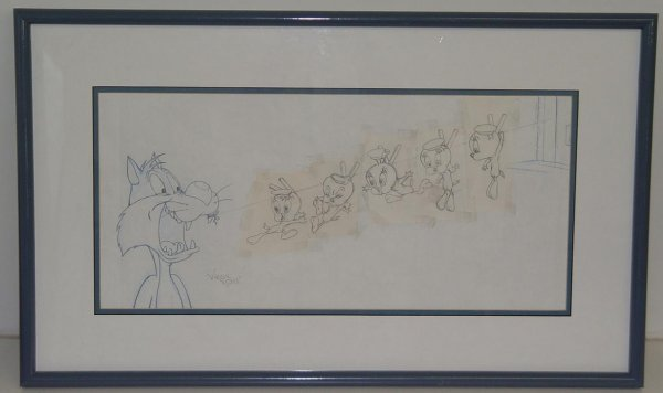 10: TWEETY AND SYLVESTER ANIMATION DRAWING