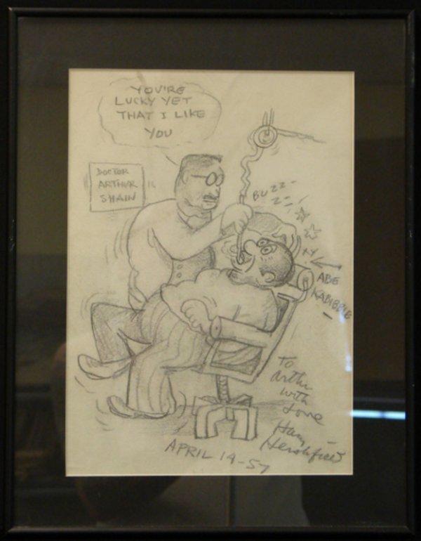 1017: HARRY HERSHFIELD DRAWING ABE KABIBBLE