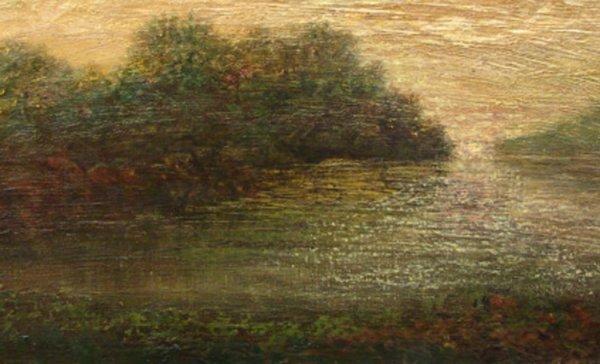 1022: FRANCIS SLOAN. OIL ON CANVAS 1909