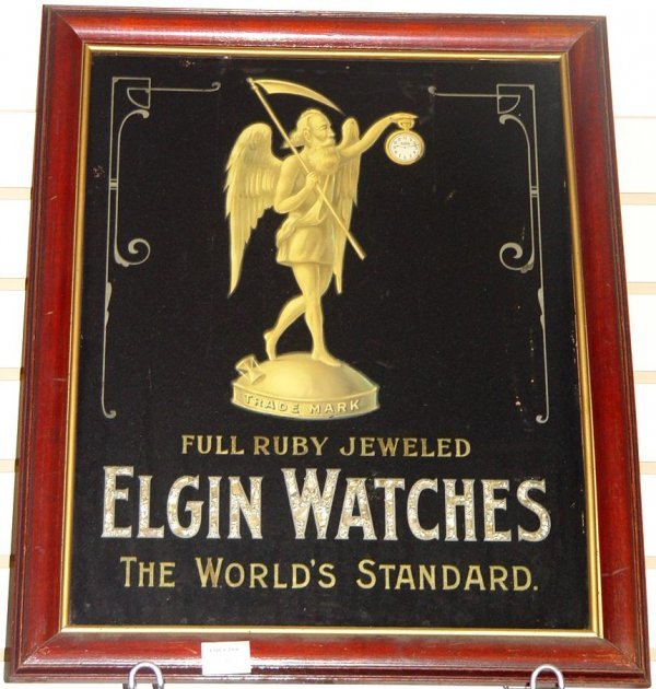 2004: ELGIN WATCHES. ADVERTISING SIGN.