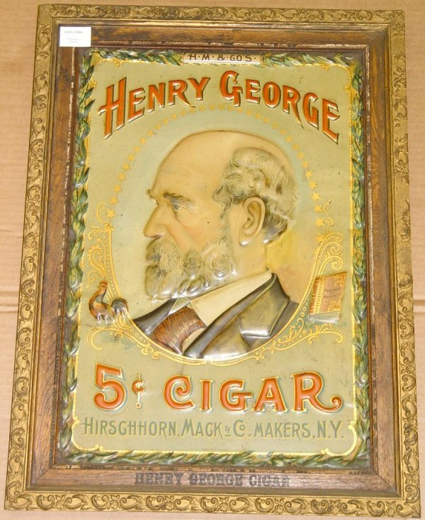 2006: HENRY GEORGE TIN ADVERTISING SIGN.