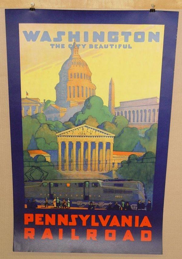 3300: PENNSYLVANIA RAILROAD WASHINGTON POSTER