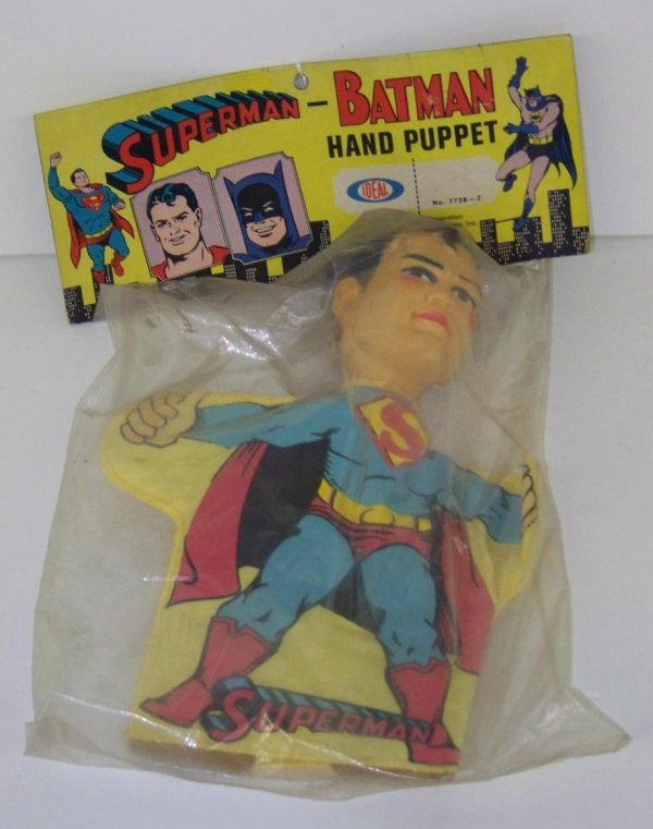 2001: 1965 MINT IN BAG SUPERMAN HAND PUPPET IDEAL