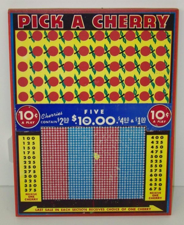 2002: VINTAGE PICK A CHERRY PUNCH BOARD