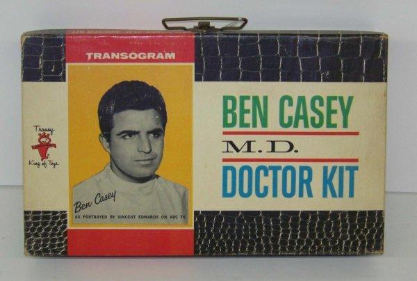 2008: 1962 BEN CASEY M.D. DOCTOR KIT TRANSOGRAM