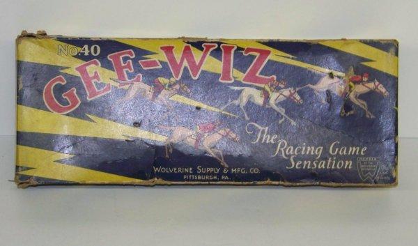 2013: 1940's GEE-WIZ RACING GAME WOLVERINE