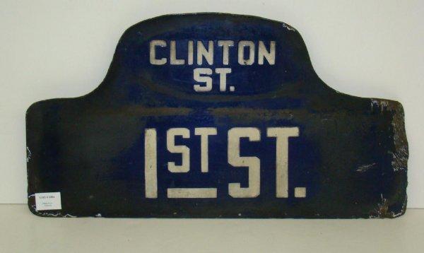 1004: PORCELAIN STREET SIGN.