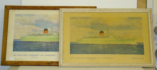 1009: CUNARD LINES LOT OF TWO.