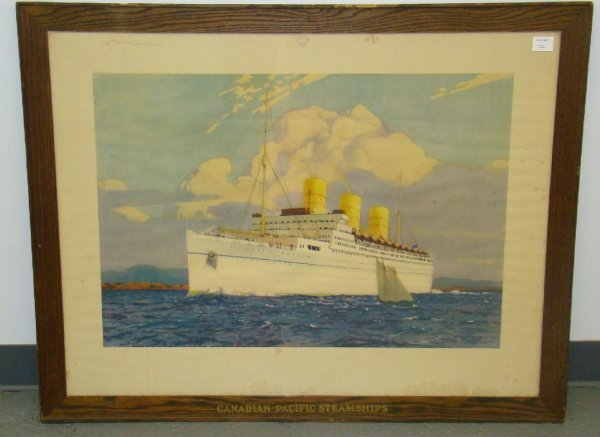 1017: CANADIAN PACIFIC STEAMSHIP PRINT.