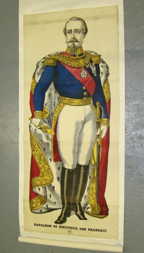 1019: NAPOLEAN. HAND COLORED POSTER.