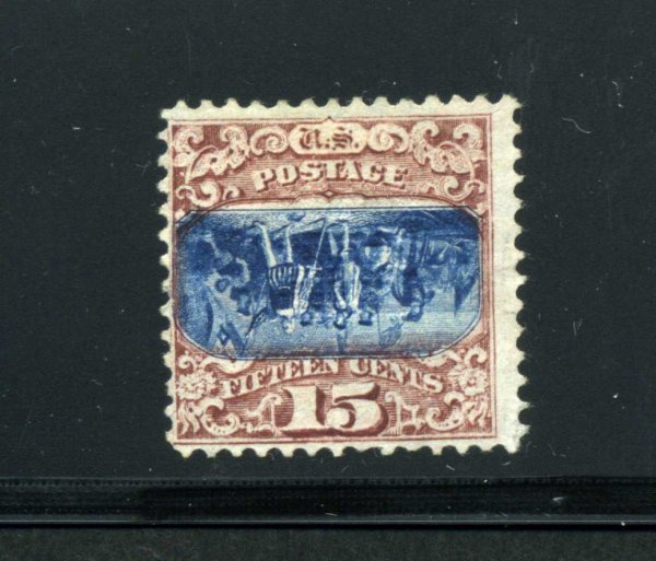 2002: 15 CENT 1869 INVERTED CENTER UNUSED NO GUM,