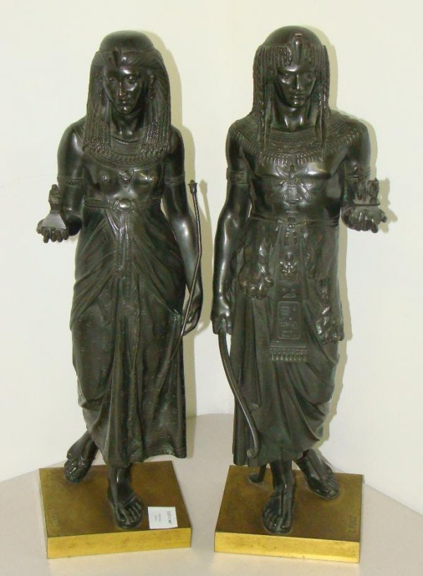 3007: EMILE LOUIS PICAULT. PAIR OF BRONZES.