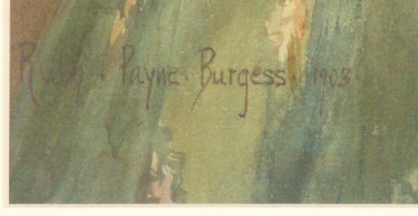 4307: RUTH PAYNE BURGESS. WATERCOLOR ON PAPER - 5
