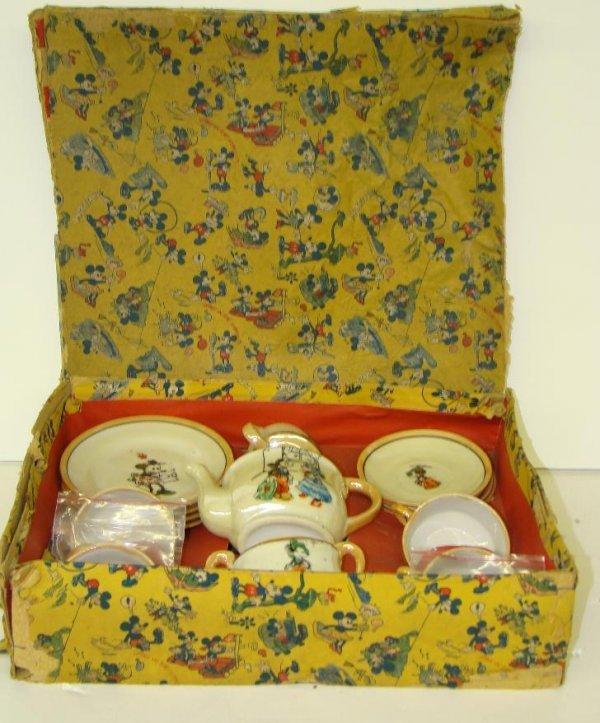97: DISNEY. 1930'S MICKEY MOUSE TEA SET.