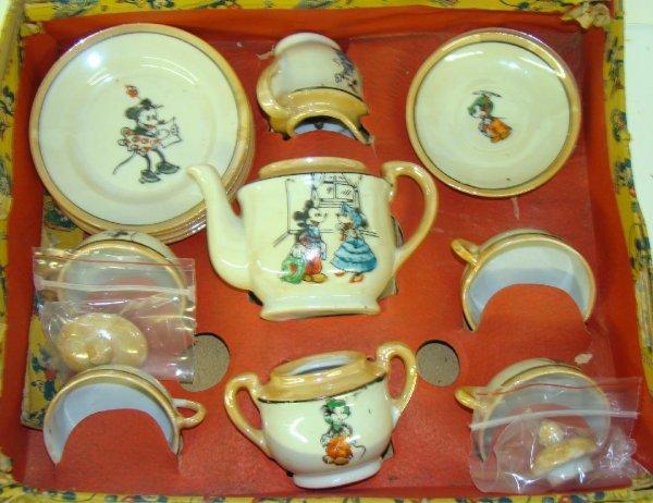 97: DISNEY. 1930'S MICKEY MOUSE TEA SET. - 2