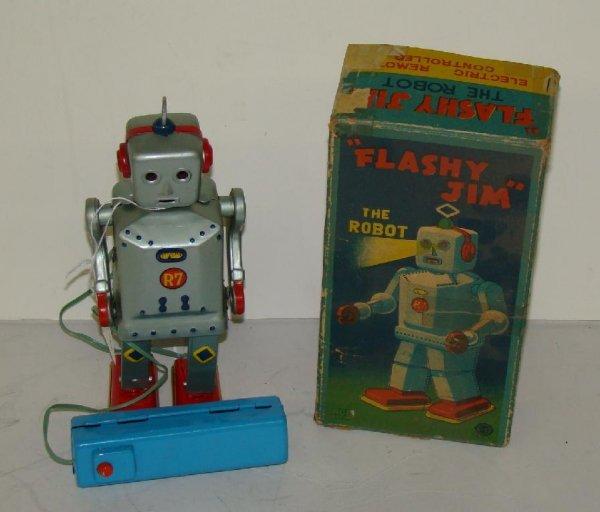 1019: FLASHY JIM THE ROBOT. JAPAN. BOXED.