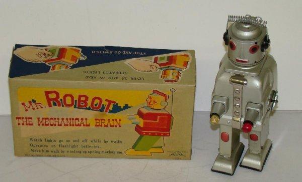 1020: MR. ROBOT THE MECHANICAL BRAIN. JAPAN. BOXED.