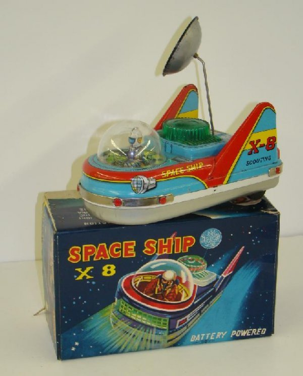 1156: SPACE SHIP X-8.  BOXED
