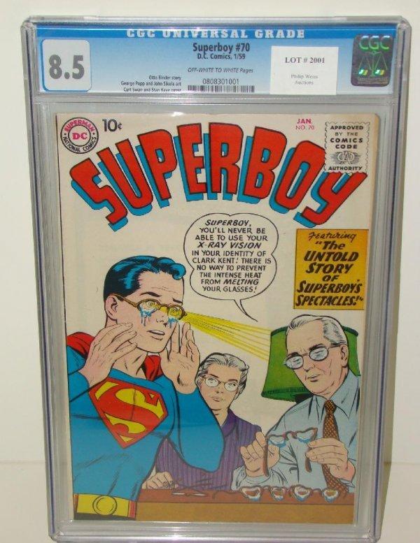 2001: SUPERBOY COMICS. #70 GRADED 8.5