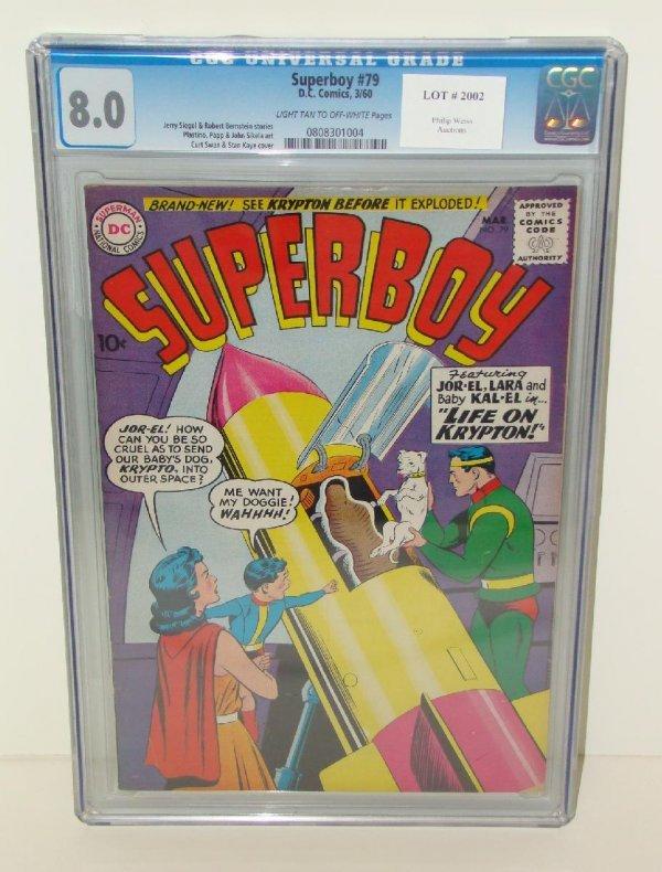 2002: SUPERBOY COMICS. #79 GRADED 8.0