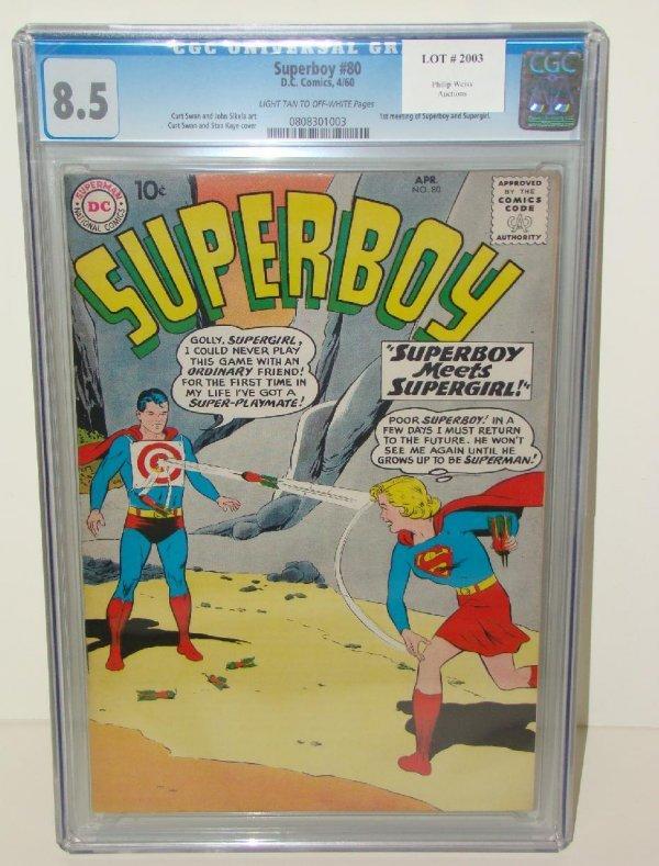 2003: SUPERBOY COMICS. #80 GRADED 8.5