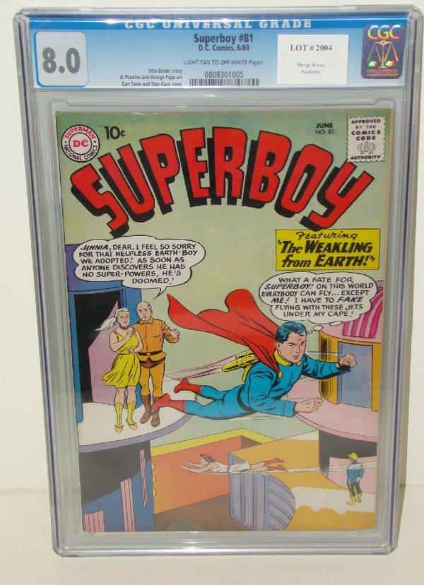 2004: SUPERBOY COMICS. #81 GRADED 8.0