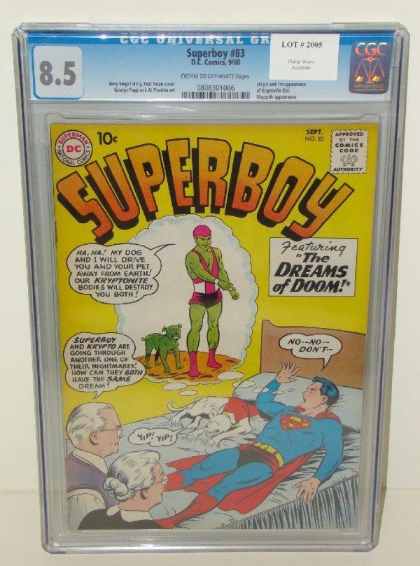 2005: SUPERBOY COMICS. #83 GRADED 8.5