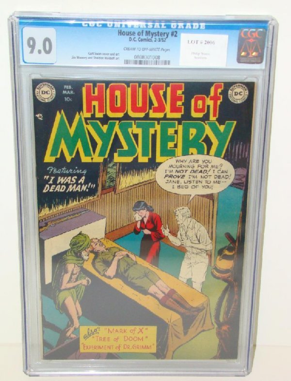 2006: HOUSE OF MYSTERY #2 GRADED 9.0