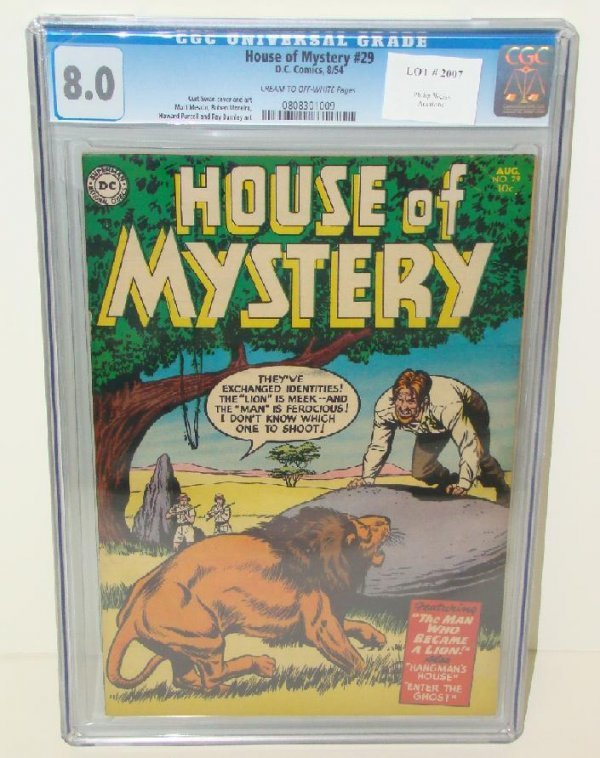 2007: HOUSE OF MYSTERY #29 GRADED 8.0