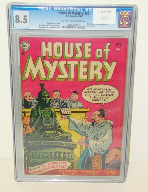 2008: HOUSE OF MYSTERY #30 GRADED 8.5
