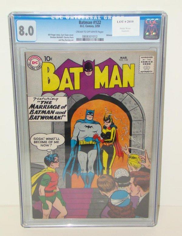2010: BATMAN. #122 GRADED. 8.0