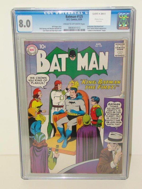 2011: BATMAN. #125 GRADED. 8.0