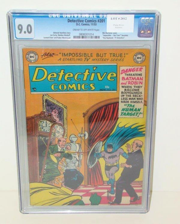 2012: DETECTIVE COMICS #201 GRADED. 9.0