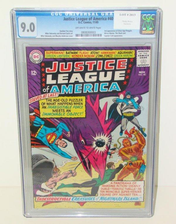 2013: JUSTICE LEAGUE #40 GRADED. 9.0