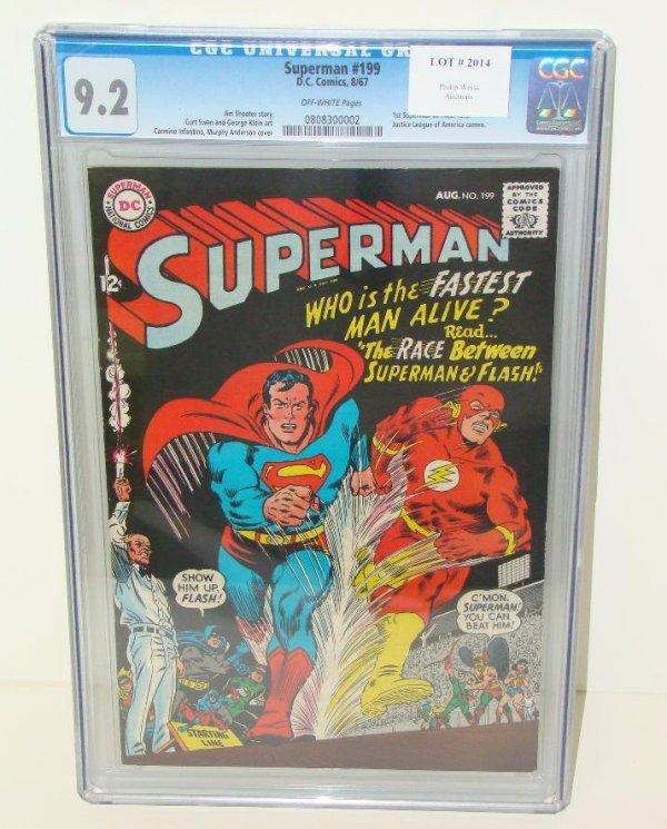 2014: SUPERMAN #199 GRADED. 9.2