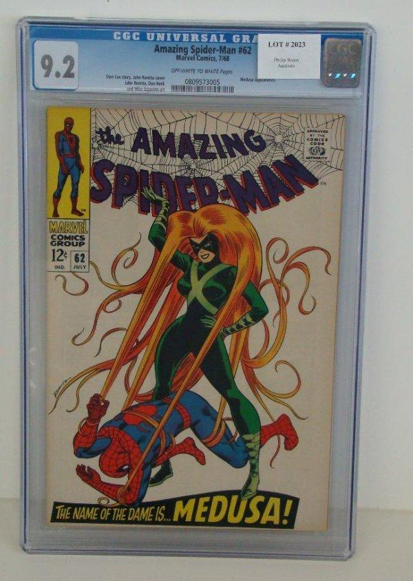 2023: AMAZING SPIDERMAN #62 GRADED 9.2