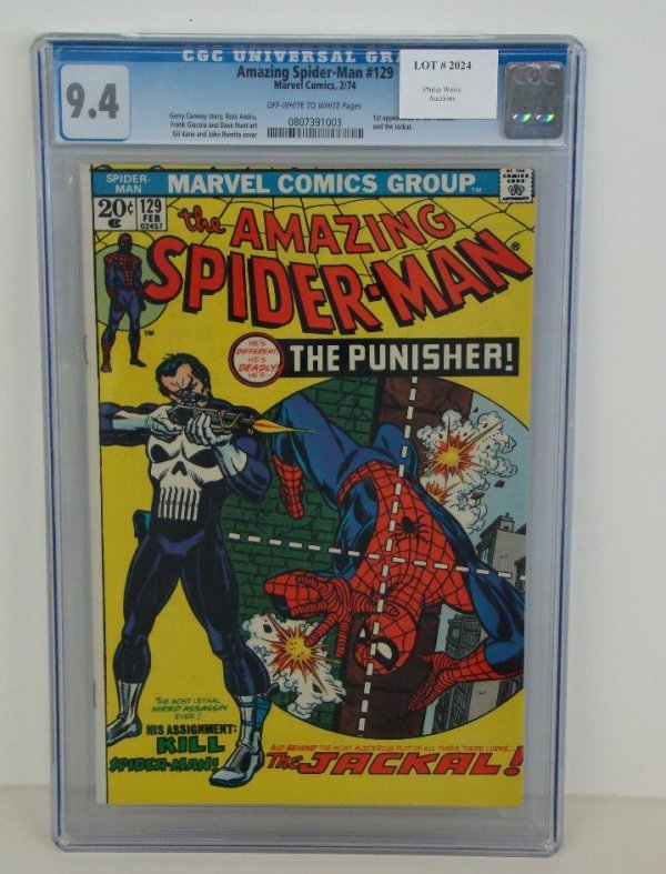 2024: AMAZING SPIDERMAN #129 GRADED 9.4