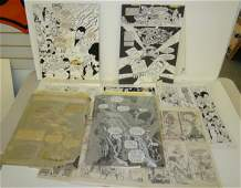 2297: ORIGINAL WARREN COMIC ART LOT. ALEX NINO.