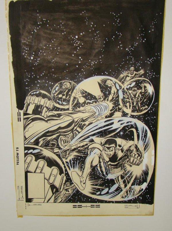2304: DAVE COCKRUM X-MEN COVER. ORIGINAL ART.