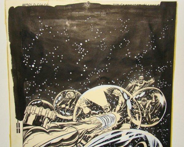 2304: DAVE COCKRUM X-MEN COVER. ORIGINAL ART. - 2