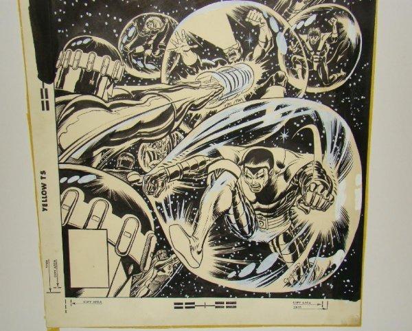 2304: DAVE COCKRUM X-MEN COVER. ORIGINAL ART. - 3