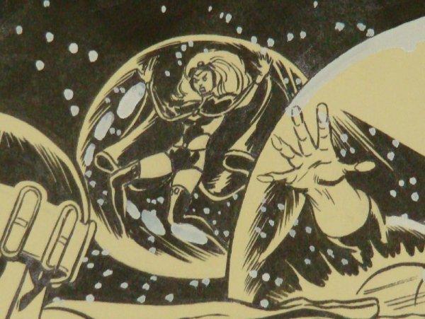2304: DAVE COCKRUM X-MEN COVER. ORIGINAL ART. - 4