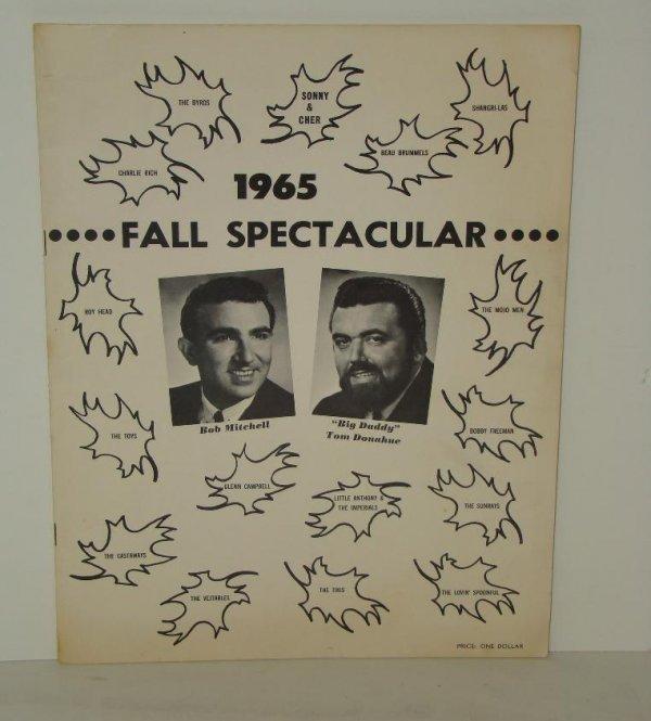 2552: 1965 SAN FRAN CONCERT PROGRAM BYRDS CHER FAB