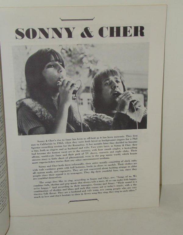2552: 1965 SAN FRAN CONCERT PROGRAM BYRDS CHER FAB - 3