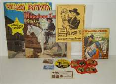 2578: 16 HOPALONG CASSIDY PREMIUMS BOOKS GAME CARDS